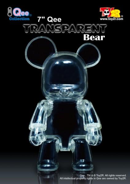 """7"""" Qee Transparent Bear"""