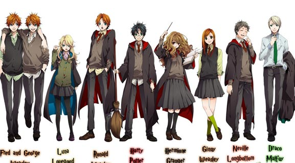 Harry Potter Anime Cast