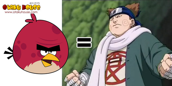 Angry Bird - Big Red Bird as Akimichi Chouji