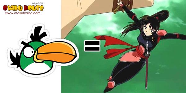 Angry Bird - Green Bird as Sango (Inuyasha)