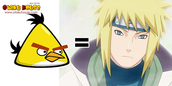 Angry Bird - Yellow Bird as Kamikaze Minato (Naruto)