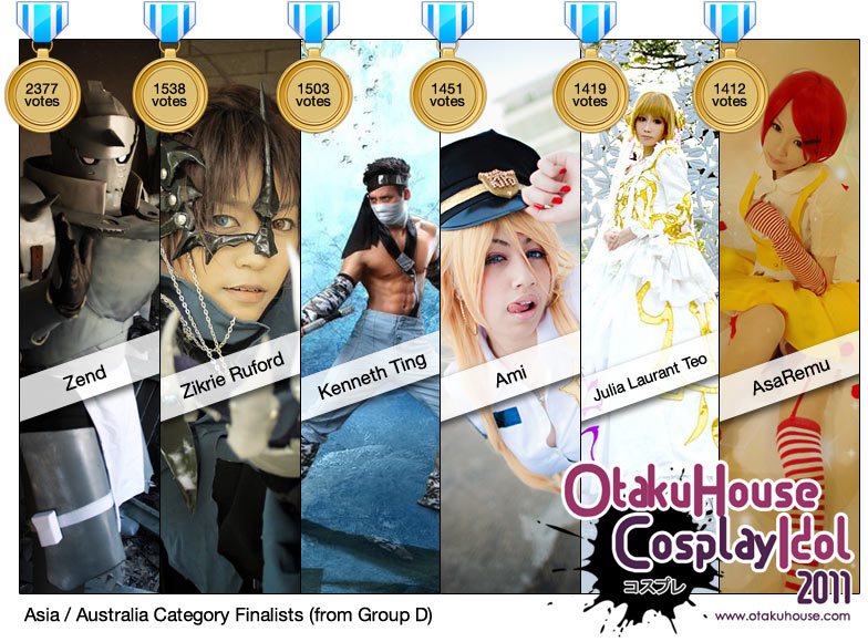 OFFICIAL! Otaku House Cosplay Idol 2011 – Asia / Australia Finalists