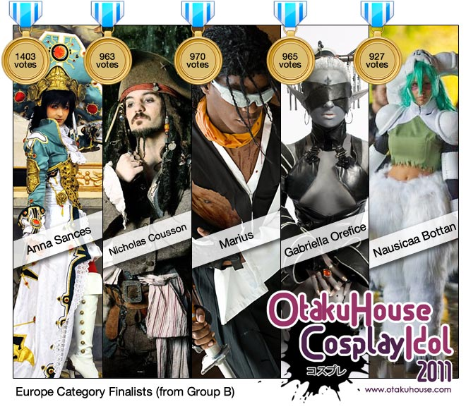 OFFICIAL! Otaku House Cosplay Idol 2011 – Europe Finalists