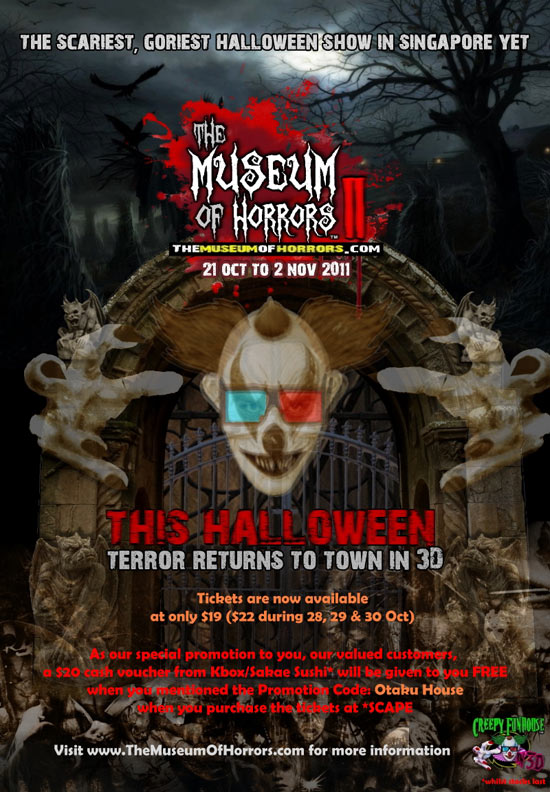 Free $20 vouchers at 'The Museum of Horrors'