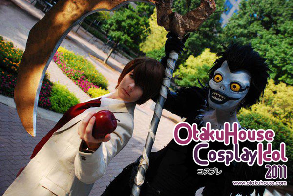 13.Mo and Michele - Ryuk and Light Yagami From Death Note ( 821 likes)