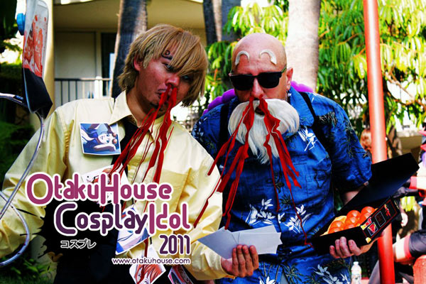 12.Steven Poirier and Dustin Young - Master Roshi and Rehab Sanji From Dragon Ball Z and One Piece(831 likes)