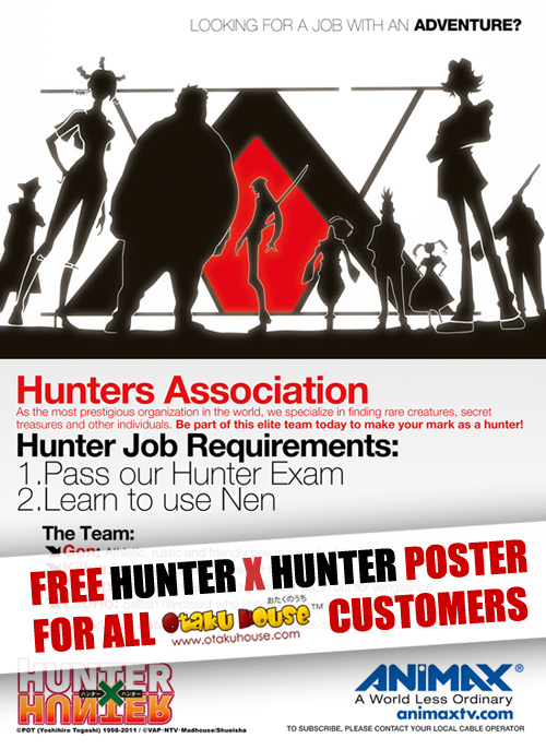 Hunter X Hunter Poster Giveaway for Otaku House customers