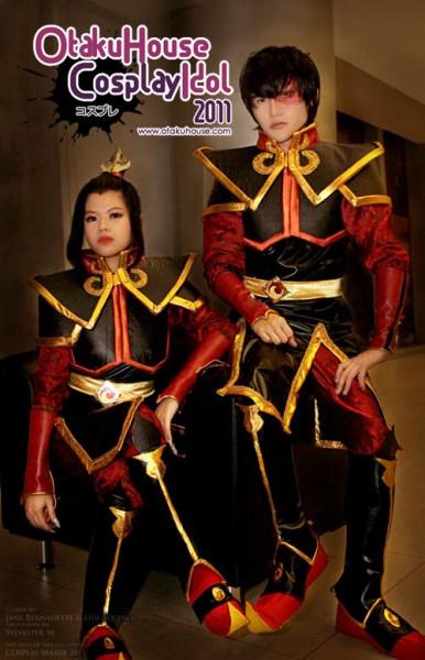 19. Jane Bernadette and Liui Aquino - Princess Azula and Prince Zuko From Avatar: The Last Airbender (882 likes)