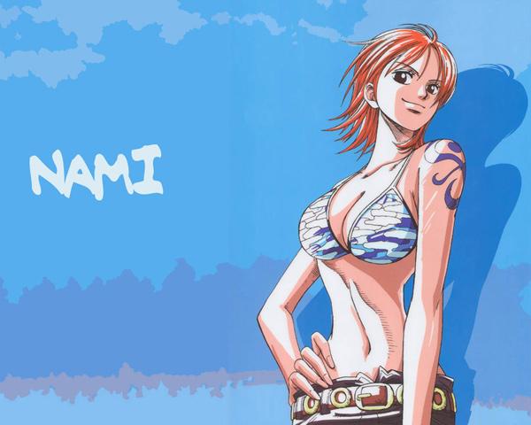 #3:One Piece - Nami (96votes)
