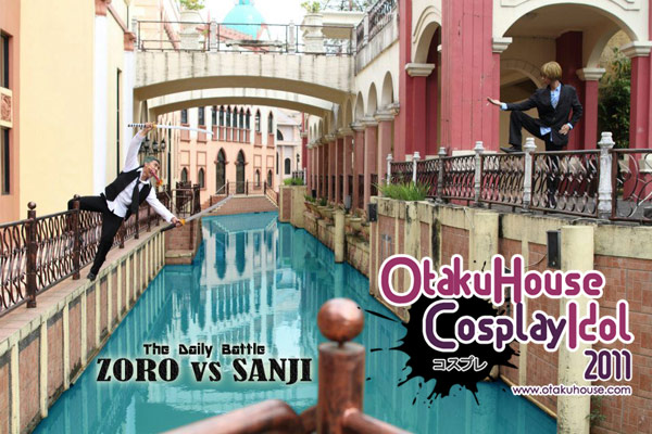 11.Kakk Odie and Gunawan Wibisono - Roronoa Zoro and Sanji From One Piece (1136 likes)
