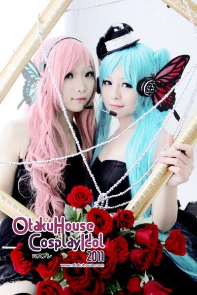 4. Poka and kellry - Megurine Luka and Hatsune Miku From Vocaloids (1484 likes)