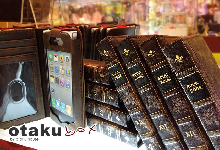 Classic mini leather 'book' iPhone 4S cover