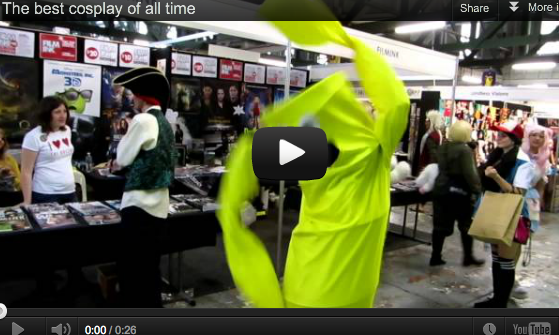 Funny cosplay of the Tube Man