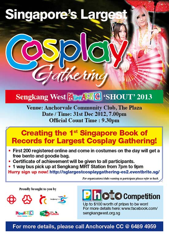 2013 Countdown at Seng Kang West: Singapore Largest Cosplay Gathering