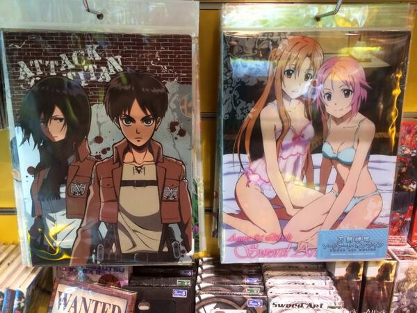 [New Arrivals]: SAO stationery, Attack On Titan T-Shirts and One Piece Jigsaw Puzzles