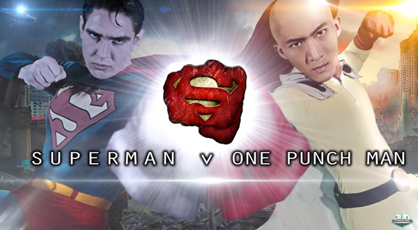 One Punch man versus Superman film