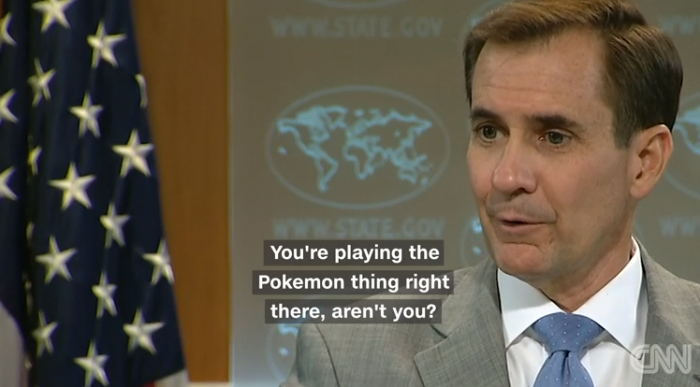 Reporter played Pokémon Go at State Department Meeting