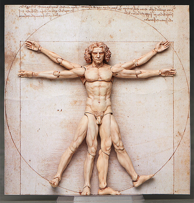 Vitruvian Man brought to real life as an Action Figure!